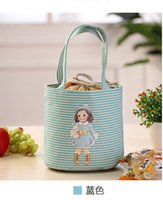 Unisex best lunch box - Hot Korea Lovely doll cooler bag ice Lunch bag insulation boxes Students portable lunch box best gift colors