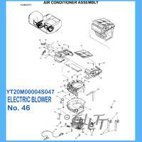 air blower motor - Kobelco SK200 SK330LC GENUINE ORIGINAL Electric Blower Motor YT20M00004S047 Motor Oven Fan Cool for Excavator Air Conditioner
