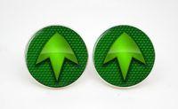 arrow comic - 10pairs Green Arrow Logo Superhero Comic Earring stud TV SET Glass cabochon earrings