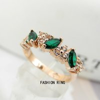 emeralds - Retro Fashion Women s Lady Gorgeous Vintage Green Emerald Man Made Rhinestone Crystal Finger Ring