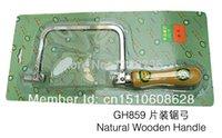 adjustable hacksaw - Hot sale natural wooden handle saw bow adjust saw frame adjustable saw bow Mini Hacksaw