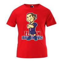 Wholesale 2016 Summer men Sweden uniforms Soccer World Cup T shirts Paris Ibrahimovic the European Cup cartoon training clothes