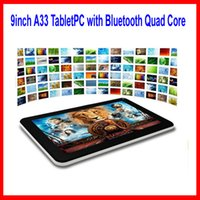 Wholesale 9 inch A33 Tablet PC with Bluetooth Quad Core flash GB RAM GB ROM Allwinner A33 Andriod Ghz US01