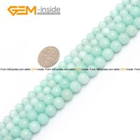 amazonite faceted beads - Amazonite Blue Jade Beads Faceted Round Selectable mm mm Natural Stone Beads For Jewelry Making Diy Bracelet