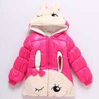 Wholesale New Children s Outwear Winter Jacket To Years Old Girls Coats Lovely Bunny Pattern Thickening Coats C