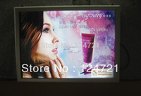aluminium display frames - 2014 new invention a3 led aluminium lightbox display frame with hanging backlit panels