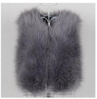 Wholesale autumn and winter ostrich wool turkey fur vest