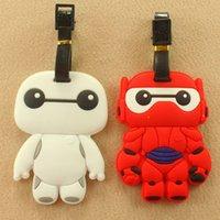 Wholesale Big hero Baymax lage tags red white big head robot NEW hot sale kawaii cartoon boarding pass children birthday gift