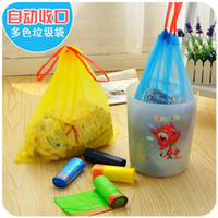 Wholesale Automatic closing type disposable plastic bag breakpoint thickening household kitchen housework green garbage bag size