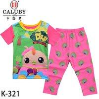 baby k clothing boys - Baby Boys Girls Didi Clothing Set Kids Short Sleeve Cartoon Pajamas Sets Childrens Cartoon Night Wear Sleepwear Clothes K