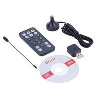 Wholesale 1 Set Radio Tuner Receiver Mini USB DVB T Stick Antenna Remote Control Digital Hot