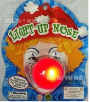 halloween masks clown - Hot Selling LED Clown red nose Halloween luminous Toys Jolly Mask Kids Party Gifts best quality