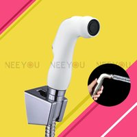 Wholesale Chrome White ABS Toilet nozzle sprinkler Bidet spray gun Woman Cleaning Equipment Toilet Shattaf Small Hand shower Set