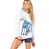 best blouse patterns - w1025 Best seller Summer Autume Style Womens Horse Pattern Print Long Sleeve Pullover Shirt Tops Blouse