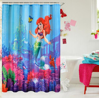 barcelona printing - new brand New Custom D printed Shower Curtain Barcelona Mermaid polyester bathroom curtain