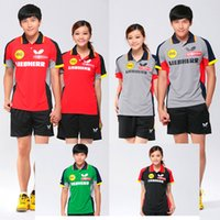 Wholesale JAAT Butterfly table tennis clothes Pingpong Polo Shirts DE NEW TENERGY Ping pong Shirt Men table tennis Jerseys women or men