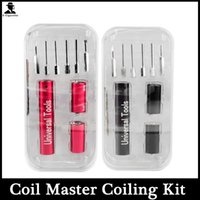 Cheap 6 Sizes in 1 Coil Jig Kits Kuro Koiler Universal Tools Coiler Winding Coiling Builder Heating Wire Wick Tool For DIY RDA Atomizer