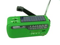 emergency radio - New portable mini fm radio DEGEN DE13 FM MW SW Crank Dynamo Solar Emergency Radio World Receiver