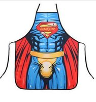 Wholesale AAAA fashion super man batman spiderman flash green giant apron creative whimsy novelty couples party gifts CM