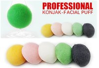 Wholesale 2015 Konjac Sponge Puff Herbal Facial Sponges Pure Natural Konjac Vegetable Fiber Making Cleansing Tools For Face And Body DHL