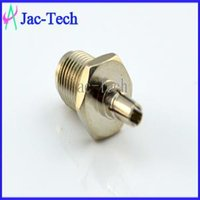 industrial material - 100Pcs straight RP SMA female to CRC9 male RF coax connector brass material