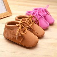 american soles - 28 style Baby First pink khaki fringed toddler shoes baby non slip soft sole toddler shoes baby toddler PU fringed American flag shose