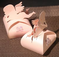 Cheap Wedding Candy box pink angel boxes fashion Favor Holder gift boxes free shipping wholesale