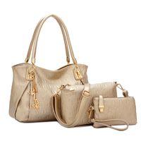 purses and handbags - High quality embossed O pattern picture package Ms PU hand carry single Kit handbag shoulder messenger bag purse Mummy fashion bag
