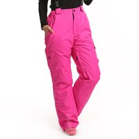 Wholesale Dropshipping degree snow pants plus size elastic waist lady trousers winter skating pants skiing outdoor ski pants women