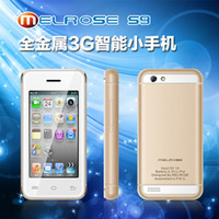 Wholesale 2015 New Hot inch WQVGA Melrose S9 mini smartphone G WCDMA Androrid MT6572A Daul Core ROM G T FLASH card GVersion