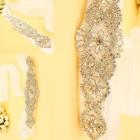 Wholesale New Arrival Dazzing BlingBling Sashes and Belts Bridal Sashes Rhinestone Crystal Beads Vintage For Party Evening Accessories CPA530
