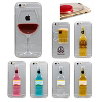 beer floating - Liquid Quick Sand Floating Red Wine Cocktail Glass Beer Mug Bottle Cup Hard PC Case Cover Protector for Iphone Plus S