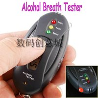 alcohol meter readings - Freeshipping Police Alcohol Breath Breathalyzer Tester LED Torch Key Ring Indicates Blood Alcohol Reading Anytime Car Meter