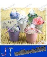 Wholesale Chocolate Candy Pail Mix Tin pails Mini Pails wedding favors mini bucket tin box favor box gift box MYY13341A
