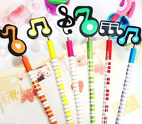 Pencils YES HB 2016 new Novelty Stationery: Wooden Craft Cartoon Animal Pencil Music Signal Korea Creative Gift 6 different styles