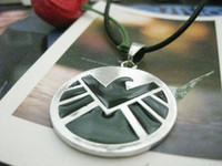 eagle pendant - Marvel Agents of SHIELD Necklace Badge Eagle Logo Pendant Necklaces The Avengers Movie Jewelry for men Halloween S H I E L D cosplasy