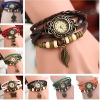 animal ladies watches - Hot New Infinity Watches Weave Bracelet Watches Charms Watches Lady Wrap Watches Love Leather Wrist Watches Mix Color Free DHL b525