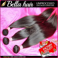 Wholesale 10 OFF Unprocessed HUMAN HAIR Weft Brazilian Indian Malaysian Peruvian Virgin Hair Extensions Natural Color Weave Straight Cheap