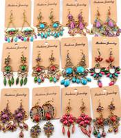 big earrings - High quality Bohemian dangle earrings for women big exaggeration drop earrings silver jewelry YDH