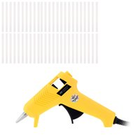 Wholesale Mini V W Hot Melt Glue Gun with Glue Sticks Heating Craft Repair Tool pistolet a colle handy tools