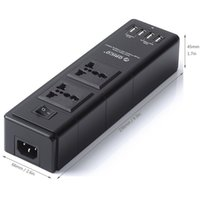 Wholesale 4 Outlet Home Office Smart Charger AC Plugs and USB Charger Ports Power Adapter W V For iPhone Plus S S Samsung HTC