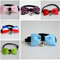 daily use handmade necklace - New Handmade Dog Bowknot Hairpin Necklace Collar Red Rose Cute cat collars Bowknot Pet Accessories LJJD319