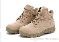 Libre de Combate Envios Delta Militar Desert Boot Mens Ejército Botas Tácticas militar al aire libre Botas Otoño Invierno Escalada Senderismo Zapatos