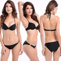 Wholesale High quality the bathing suit Steel Boned Swimwear Bandeau Top and Brazilian Bottom Bikini Set with bra pad S M L