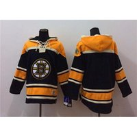 best mens hoodies - Bruins Black Hockey Hoodies Mens Jackets Lace Up Winter Ice Hockey Sports Hoodies Cheap Hockey Uniforms Best Sporting Jerseys Fast Ship