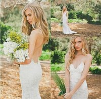 Cheap A-Line Wedding Dress Best Reference Images Spaghetti lace bridal dress