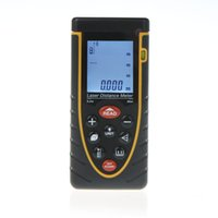 Wholesale High Accuracy m ft Handheld Laser Distance Meter Laser Rangefinder with Bubble Level Tape Measure Accuracy mm
