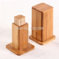 bar table storage - wooden Toothpick Holder Kitchen Dining bar Table Decoration storage Natural Moso bamboo toothpick box craft house