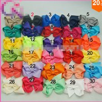 baby blue ribbon - 8 style available Pieces quot Solid Hair Bow With Clip For Baby Boutique Ribbon Hair Bow For Kids Classic Baby Hair Bowknot Colors