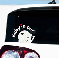 Wholesale Cartoon Car Stickers Reflective Vinyl Styling Baby In Car Warming Car Sticker Baby on Board